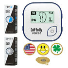 Blue/White GolfBuddy Voice2 Golf GPS/Rangefinder+Taylormade TP5/TP5X+Ball Marker