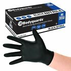 10 Box's of 100 Bodyguard 4 BLACK Nitrile Powder Free Gloves FREE DELIVERY