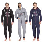 ONEZIE Mens Snuggle College Football Zip Up  All-In-One Hooded Warm Jumpsuit