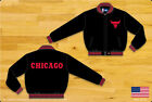 NBA JH Design Chicago Bulls Wool Jacket made in USA New Handmade JH Design