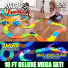 MAGIC TRACKS 360PCS Glow in the Dark 5LED LIGHT UP RACE Cars Bend Flex Toys Auto