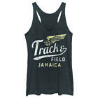 Lost Gods Jamaica Track and Field Womens Graphic Racerback Tank