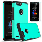 For ZTE Blade Z Max Z982 Shockproof Hybrid Rugged Case With Screen Protector 9H