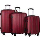 3 Piece Luggage Set Hardshell Spinner Travel  ABS Trolley Suitcase Large Size