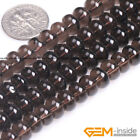 """Natural Smoky Quartz Gemstone Rondelle Spacer Beads For Jewelry Making 15""""Strand"""