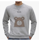 FELPA UOMO SWEETIES CUTE ANIMAL RETRO' BEAR ORSO FUNNY NENE NE0349A PACDESIGN