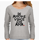 FELPA DONNA WORDS FUNNY LOVE HEART IN AMORE VINCE CHI AMA BE DIFFERENT BD0046A P