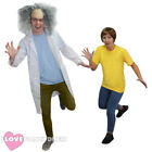 ADULT CRAZY SCIENTIST OR COMPANION COSTUME TV CARTOON COSPLAY FANCY DRESS