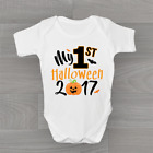 My First 1st Halloween 2017 Orange Pumpkin Baby Grow Bodysuit Vest New Arrival