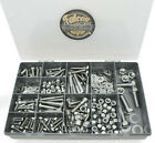 """410 ASSORTED A2 STAINLESS 1/4"""" 5/16"""" 3/8"""" & 1/2"""" UNC NYLOC NUTS BOLT WASHERS KIT"""