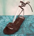 TRACEY ROSS Brown Leather Gladiator Sandals Flats NEW