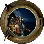 Huge 3D Porthole Enchanted Ocean Bay Night View Wall Stickers Film Art Decal 378