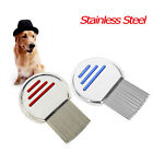 Pet Hair Comb Brushes Lice Terminator Nit Fine Dust Removal Stainless Steel XXF