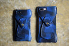 ROBERU iPhone 8 or 8 Plus Case Italy Navy Camouflage Leather Cover F/S Japan NEW
