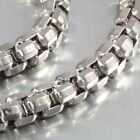 """New Heavy 8MM Stainless Steel Solid Box Chain Shinning Necklace 18"""" to 40"""""""