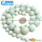 Natural Round Rondelle Amazonite Beads Finished Jewelry Handmade Necklace 19-22""