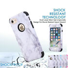 Ultra Slim Marble Pattern Rubber Hard Hybrid Case Cover for iPhone 6/7/7 Plus