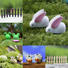 1/10pcs Miniature Rabbit Ornament Figurine Bonsai Plant Pots Fairy Garden Decor