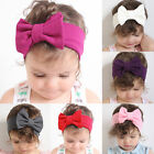 New Cute Baby Girls Kids Cotton Bow Hairband Head Wrap Hair Band Turban Headband