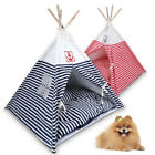 Pet Dog Cat Tent   Puppy Teepee Cat Dog Kennel Bed Washable Play House+ Cushion