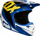 Fox Racing Adult Blue/White/Yellow V1 Race ECE/DOT Dirt Bike Helmet MX ATV