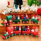 4Piece Wood Christmas Decoration Xmas Train Ornament  Kids Gift Toys Carriage