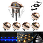 6X 12V Bronze Half Moon Outdoor Path Plinth LED Deck Stairs Step Fence Lights