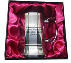 Tankard Mug Stainless Steel Engraved free - Luxury Gift Box red or blue