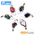 15x40mm Gemstone Tibetan Silver Marcasite Pendant Jewelry Gift Free Shipping