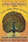 Peacock New Orleans Jazz Poker Memphis St Louis Vintage Poster Repro FREE S/H