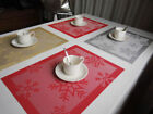 Christmas Max Snowflake Printed Tableware Placemat Bowl PVC Mat Pad Home Decor
