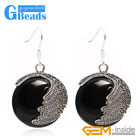 Fashion pretty 25mm Coin Beads Tibetan Silver Dangle Earrings for Chritmas Gift