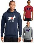 New England Patriots Tom Brady 12 GOAT Men's T-Shirt or Hoodie Sz S - 5XL NFL