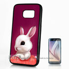 ( For S6 S7 Edge S8 S8+ Plus ) Back Case Cover A10559 Cute Bunny