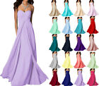 Long Chiffon Wedding Bridesmaid Dresses Formal Party Ball Prom Gown Dress 6-18