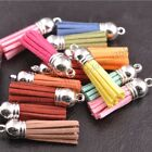 Mixed Velvet Tassel Pendant Charms Bag Key Chain Decor Craft Jewelry Making 35MM