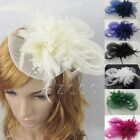 1pcs Women Party Hair Clip Fascinator Veil Feather Hat Pillbox Cap Hot Sale