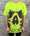 Addict A Skull Tee T-Shirt Brand New - Size: L - Lime