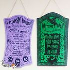 Halloween Menu Wooden Board Hanging Horror Prop Party Decoration Sign Plaque