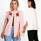 Antumn Fashion Womens Blazer Embroidered Cardigan Casual Loose Coat Blouse Tops