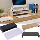 Computer Monitor Riser Shelf LCD TV Screen Platform Stand Desk Wood Home Office