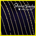 9k 9ct Yellow Gold Filled 1mm Snake Box Curb Figaro Link Necklace Men Lady Chain