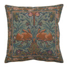 brother rabbit - Brother Rabbit 1 William Morris Woven Tapestry Pillow Cushion Cover