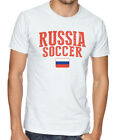Russia Team Soccer T-shirt Adults Men's Soccer Jersey 100% cotton Any Sports image