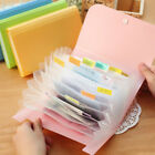 New Plastic Candy Color A6 File Folder Document Bags Bill Folders for Documents