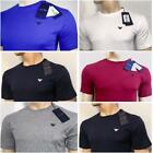 ARMANI JEANS Men's Crew Neck Slim Fit T-Shirt Short & Long Sleeve with all sizes