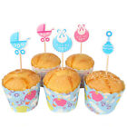 18 x It's A Boy/Girl Cake Picks Cupcake Toppers Flags Baby Shower
