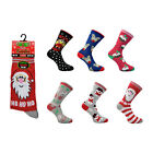 LADIES WOMEN GIRLS CHRISTMAS FESTIVE NOVELTY REINDEER SANTA SNOWMAN XMAS SOCKS