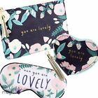 Floral Mum You Are Lovely Vegan Faux Leather Beauty Bag Cosmetic Travel Purse