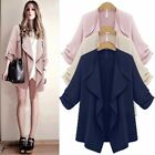 US Autumn Women's Ladies Sweater Long Sleeve Loose Cardigan Jacket Coat Outwear